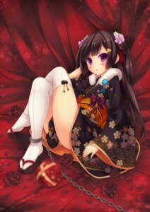 Rating: Safe Score: 59 Tags: kimono ryo_(botsugo) thighhighs User: blooregardo