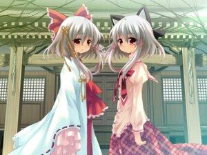Rating: Safe Score: 16 Tags: animal_ears game_cg hanafubuki miko nekomimi sakuramori_akasha sakurazawa_izumi seifuku silver_bullet User: withul