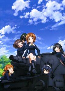Rating: Safe Score: 28 Tags: akiyama_yukari girls_und_panzer headphones isuzu_hana nishizumi_miho reizei_mako sugimoto_isao takebe_saori uniform weapon User: drop