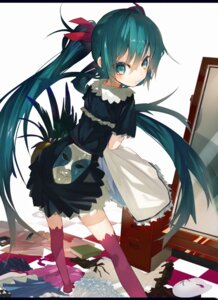 Rating: Safe Score: 53 Tags: hatsune_miku karei thighhighs vocaloid User: Radioactive