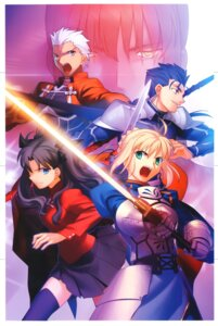 Rating: Safe Score: 12 Tags: archer fate/stay_night fate/unlimited_codes lancer moriya saber takeuchi_takashi toosaka_rin type-moon User: Radioactive