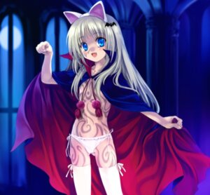 Rating: Questionable Score: 34 Tags: animal_ears cosplay little_busters! loli moonknives nekomimi noumi_kudryavka pantsu topless User: MugiMugi