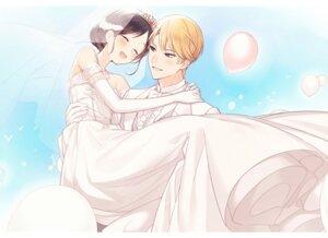 Rating: Safe Score: 11 Tags: dress juugonichi_(wheeliex2) kaguya-sama_wa_kokurasetai_~tensai-tachi_no_renai_zunousen~ see_through shinomiya_kaguya shirogane_miyuki wedding_dress User: Spidey