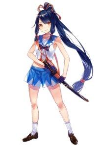 Rating: Safe Score: 27 Tags: higashiyama_kirika onsen_musume seifuku sword yuzuki_karu User: saemonnokami