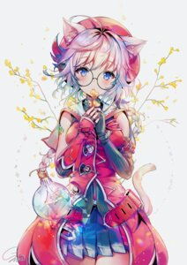 Rating: Safe Score: 56 Tags: animal_ears megane nekomimi qurare:magical_library signed snow_is_ tail User: Mr_GT