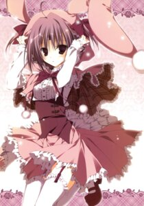 Rating: Safe Score: 31 Tags: 13 animal_ears bunny_ears garter_belt inugami_kira mitsuki_(13) stockings thighhighs User: crim