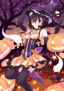 Rating: Safe Score: 35 Tags: animal_ears cleavage halloween heels nugi_(armenci) tail thighhighs witch User: Mr_GT