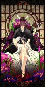 Rating: Questionable Score: 9 Tags: breasts feet kimono no_bra nopan open_shirt shijuuhachi User: charunetra