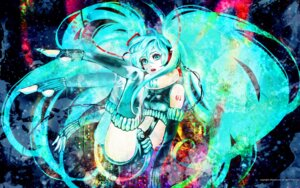 Rating: Safe Score: 10 Tags: hatsune_miku himemiko thighhighs vocaloid wallpaper User: charunetra