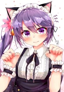 Rating: Safe Score: 49 Tags: akebono_(kancolle) animal_ears kantai_collection maid nekomimi rouka User: nphuongsun93