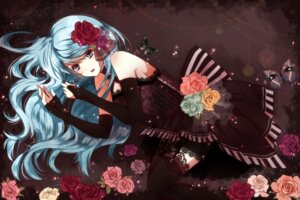 Rating: Safe Score: 31 Tags: dress hatsune_miku stockings thighhighs tsukumo_(an-mar) vocaloid User: animeprincess