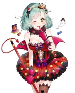 Rating: Safe Score: 11 Tags: bang_dream! halloween hikawa_hina horns puckjjick tail thighhighs weapon wings User: Mr_GT