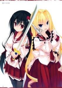 Rating: Questionable Score: 41 Tags: gun hidan_no_aria hidan_no_aria_aa kobuichi pantyhose sasaki_shino seifuku sword takachiho_urara User: Twinsenzw