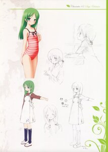 Rating: Safe Score: 9 Tags: garden gayarou otokawa_sayo sketch swimsuits User: admin2