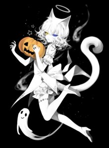 Rating: Safe Score: 19 Tags: animal_ears bloomers halloween heels heterochromia nekomimi sheya tagme tail tattoo thighhighs User: Dreista