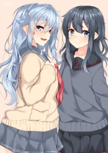 Rating: Safe Score: 43 Tags: akatsuki_(kancolle) hibiki_(kancolle) kantai_collection nebu_soku seifuku sweater User: nphuongsun93