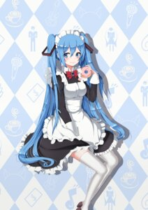 Rating: Safe Score: 37 Tags: hatsune_miku heels maid sugar_sound thighhighs vocaloid User: charunetra