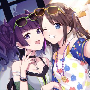 Rating: Safe Score: 18 Tags: 23nanato cleavage megane mitsumine_yuika tanaka_mamimi the_idolm@ster the_idolm@ster_shiny_colors User: Arsy