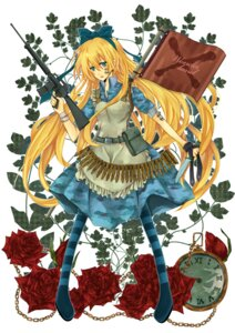 Rating: Safe Score: 9 Tags: alice alice_in_wonderland dress gun kakizato_shinano User: charunetra