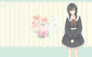 Rating: Safe Score: 31 Tags: flowers hanabishi_rikka innocent_grey megane seifuku sugina_miki wallpaper User: marshmallow