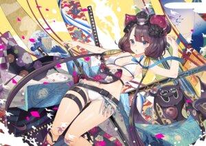 Rating: Questionable Score: 46 Tags: bikini cleavage fate/grand_order garter katsushika_hokusai_(fate/grand_order) swimsuits sword teddy underboob User: yanis