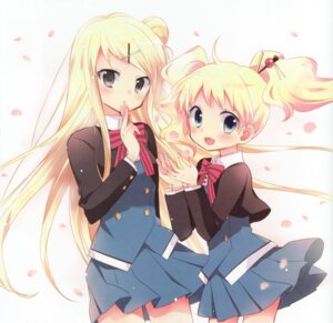Rating: Safe Score: 47 Tags: alice_cartelet hara_yui kin'iro_mosaic kujou_karen seifuku User: yong