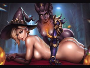 Rating: Questionable Score: 32 Tags: armor ass dandon_fuga halloween mercy_(overwatch) naked nipples overwatch tagme thighhighs widowmaker witch User: Radioactive