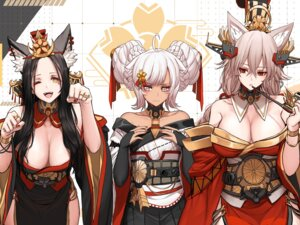 Rating: Questionable Score: 42 Tags: animal_ears azur_lane breast_hold dishwasher1910 japanese_clothes kimono no_bra open_shirt smoking User: iggy9444