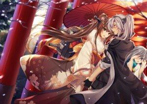 Rating: Safe Score: 25 Tags: kantai_collection kimono kiyoshimo_(kancolle) mallizmora megane musashi_(kancolle) umbrella yamato_(kancolle) yuri User: Nepcoheart