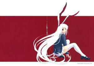 Rating: Safe Score: 15 Tags: animal_ears bunny_ears cradle crease misaki_kurehito reisen_udongein_inaba thighhighs touhou User: Aurelia