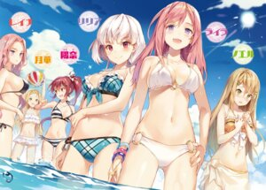 Rating: Questionable Score: 93 Tags: bikini breast_hold cleavage digital_version gilse madou_shoujo_ni_tensei_shita_ore_no_souken_ga_yuunou_sugiru see_through swimsuits underboob wet User: AltY