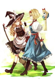 Rating: Safe Score: 16 Tags: aili_(aliceandoz) alice_margatroid dress heels kirisame_marisa shanghai touhou witch User: charunetra
