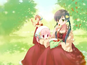 Rating: Safe Score: 24 Tags: akino_momiji cuffs dress gayarou kiriyama_sakura sakura_musubi sera_karen wallpaper User: fireattack