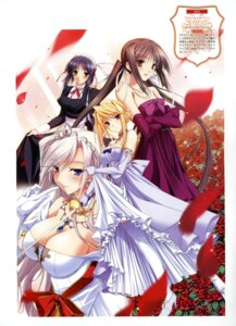Rating: Questionable Score: 35 Tags: charlotte_hazelrink cleavage dress fujikura_yuu komori_kei princess_lover! seika_houjouin sylvia_van_hossen User: crim
