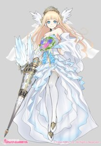 Rating: Safe Score: 37 Tags: dress fuyuno_yuuki thighhighs weapon wedding_dress User: Radioactive