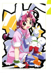 Rating: Safe Score: 6 Tags: animal_ears bunny_ears kanzaki_hiro nurse thighhighs weapon User: Anonymous