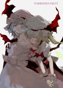 Rating: Safe Score: 25 Tags: blood dress flandre_scarlet minakata_sunao remilia_scarlet touhou wings yuri User: Radioactive