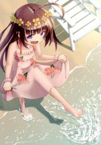 Rating: Safe Score: 28 Tags: dress feet hinatsuru_ai ryuuou_no_oshigoto! sato_seitaka skirt_lift summer_dress wet User: charunetra