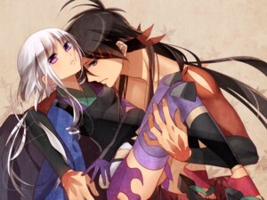 Rating: Questionable Score: 55 Tags: japanese_clothes katanagatari murakami_yuichi thighhighs togame yasuri_shichika User: aihost