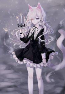 Rating: Safe Score: 12 Tags: animal_ears dress gothic_lolita heterochromia lolita_fashion nekomimi pantyhose sheya User: charunetra