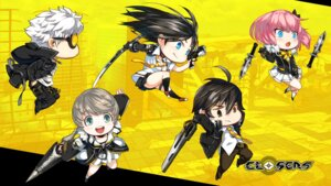 Rating: Safe Score: 7 Tags: chibi chkuyomi cleavage closers j_(closers) megane mistilteinn_(closers) seha_lee seifuku seulbi_lee sword trap weapon yuri_seo User: Nepcoheart