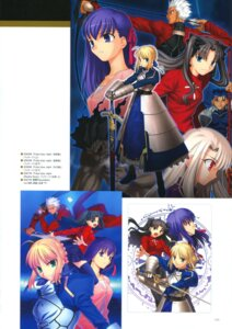 Rating: Safe Score: 3 Tags: archer fate/stay_night matou_sakura saber sword takeuchi_takashi thighhighs toosaka_rin type-moon User: fireattack