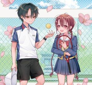 Rating: Safe Score: 5 Tags: +1_(yakusoku0722) echizen_ryoma prince_of_tennis ryuuzaki_sakuno seifuku tennis User: animeprincess