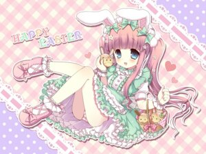 Rating: Questionable Score: 28 Tags: 7sta animal_ears bunny_ears dress loli lolita_fashion pantsu shimapan wallpaper User: blooregardo