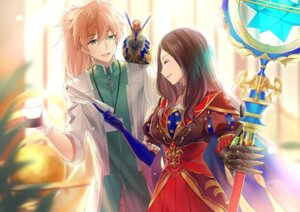 Rating: Safe Score: 7 Tags: armor fate/grand_order kagachi_saku leonardo_da_vinci_(fate/grand_order) romani_archaman weapon User: mash