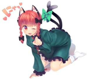 Rating: Safe Score: 36 Tags: animal_ears dress kaenbyou_rin nekomimi niwashi tail touhou User: Mr_GT