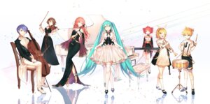 Rating: Questionable Score: 18 Tags: cleavage dress hatsune_miku hatsune_miku_symphony heels kagamine_len kagamine_rin kasane_teto kh_(kh_1128) see_through skirt_lift thighhighs vocaloid User: Dreista