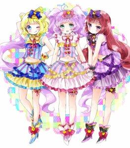 Rating: Safe Score: 15 Tags: garter heels houjou_sophie manaka_lala minami_mirei pripara tsukiyo_(skymint) User: KazukiNanako