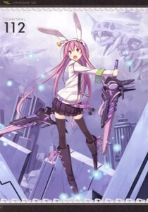 Rating: Safe Score: 40 Tags: asahiage chainsaw dress mecha_musume poco thighhighs User: fireattack