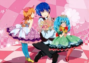 Rating: Safe Score: 14 Tags: dress hatsune_miku kagamine_rin kaito marirero_a pantyhose vocaloid User: Hatsukoi